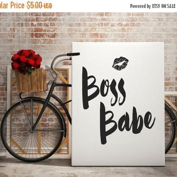 Printable Word Art, Boss Babe, Girl Boss Printable, Feminist Print, Printable Wisdom, Scandinavian Print Quote, Printable Typography,Digital