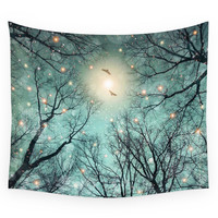 Society6 Nature Blazes Before Your Eyes Mint Embe Wall Tapestry