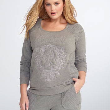 Rebel Wilson for Torrid Quilted Sweatshirt