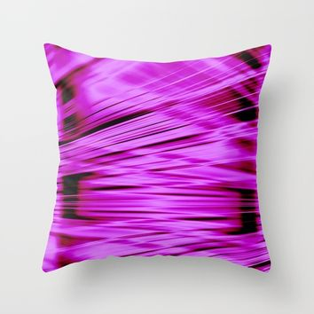 Pink streaked lines pattern Art Print by Steve Ball