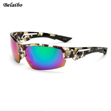 Good quality Polarized Belaibo Sunglasses Men Square Summer Sun Glasses lens Women Brand Designer 6Colors With case 2017