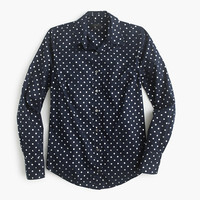J.Crew Womens Tall Perfect Shirt In Foil Dot