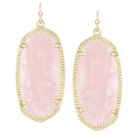 Elle Earrings in Rose Quartz - Kendra Scott Jewelry