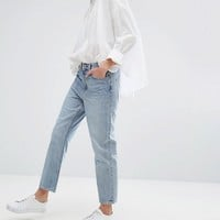 Weekday Voyage Mid Rise Crop Mom Jean at asos.com