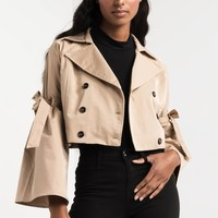 SOMETHING IN THE AIR CROPPED TRENCH JACKET