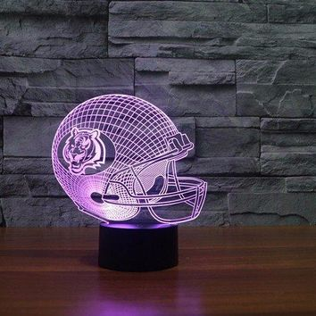 Cincinnati Bengal Tiger 3D Helmet Light