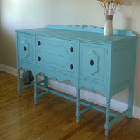 Chalk Painted Annie Sloan Paint Sideboard/Buffet/Entertainment Center