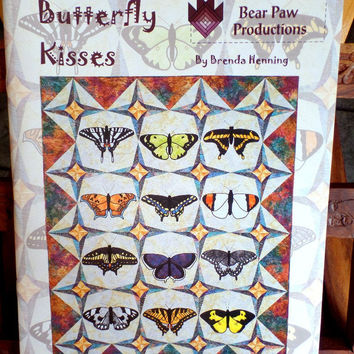 Butterfly Kisses by Brenda Hennings Bear Paw Productions Quilt Pattern Book