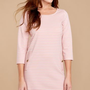 Stripes Of Love Pink Striped Dress