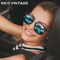Vintage Round Sunglasses Women Fashion Designer Eyewear UV400 Gradient Female Retro Sun Glasses Brand Points Sun Women 2016 New