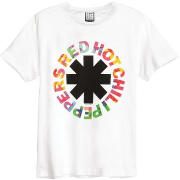 Red Hot Chili Peppers Men's  Hyper Colour T-shirt White