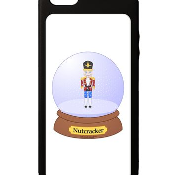 Nutcracker Snow Globe - Red Gold Black iPhone 5C Grip Case  by TooLoud