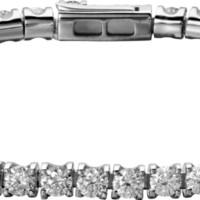 Essential Lines bracelet: Essential Lines bracelet, 18K white gold, set with 52 brilliant-cut diamonds totaling 4.68 carats.