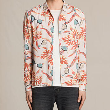 ALLSAINTS UK: Mens Pipeline Shirt (ROSE GREY)