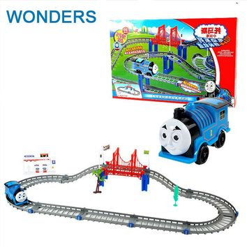 Diecast DIY Roller Coaster track Electric Electronic Trains Set With Rail Toys For Children Boys Kids Toys Jugetes Para Ninos