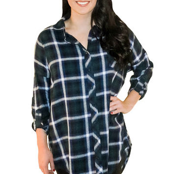 Mountain Venture Flannel in Green | MACA Boutique