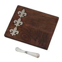 Fleur De Lis Bar Board by Mud Pie