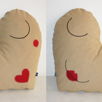 Mood indicator naughty-sleepy heart pillow / sexy smiley toy