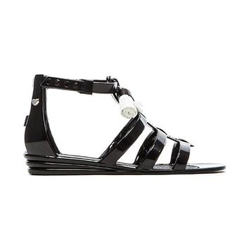 Love Moschino Tassel Sandal in Black