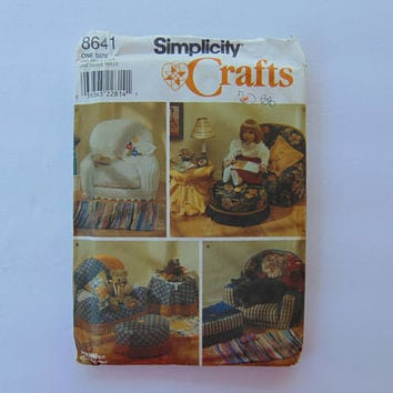 Simplicity 8641 Stuffed Craft Chairs and Accessories American Girl Doll Furniture Sewing Pattern UNCUT