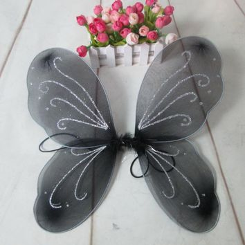 Halloween Fairy Wings Party Decoration Kids Girl Princess Fairy Butterfly Wings Party Decor 13 Colors