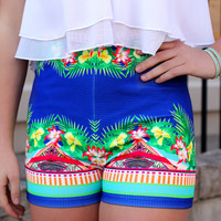 In the Tropics High Rise Shorts
