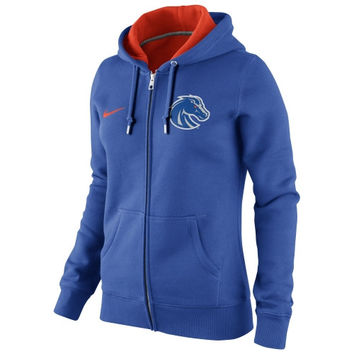 cb85e62a92ff Nike Boise State Broncos Ladies Full Zip Hoodie - Royal Blue