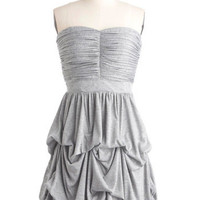 Cascades of Grey Dress | Mod Retro Vintage Dresses | ModCloth.com