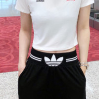 """Adidas""Fashion Cool Street Open Pants Suit"