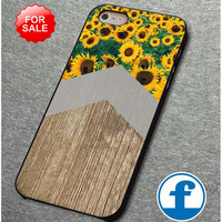 Arrow and sunflower on wood print  for iphone, ipod, samsung galaxy, HTC and Nexus PHONE CASE