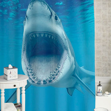 Best shark curtain products on wanelo for How do sharks use the bathroom
