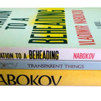 VLADIMIR NABOKOV vintage book lot Glory Invitation To A Beheading Transparent Things First Edition hardcover