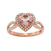 FANCY 3.90CT CHOCKLATE HEART CUT 925 STERLING SILVER ENGAGEMENT RING FOR HER