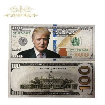 New Products For 10pcs/lot America Banknotes Trump Banknote 100 Dollars Gold Banknote as Bill Currency Gifts