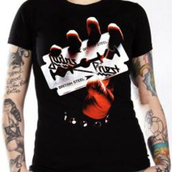 Judas Priest Girls T-Shirt - British Steel