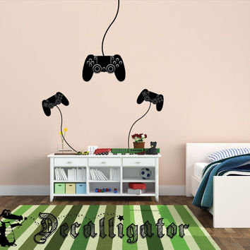 Wall Decal - Play Station Controller - Vinyl Mural-Like Wall Art - Perfect for Kids' Rooms, Basements, or Playrooms