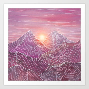 Lines in the mountains 02 Art Print by vivianagonzlez