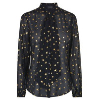 Sheer Star Blouse
