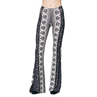PRINTED BELL BOTTOMS PANTS