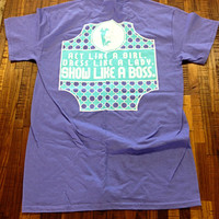 Pig: Show Like A Boss Violet Shirt - a•grar•i•an apparel