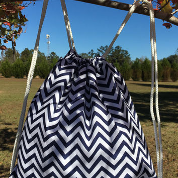 Personalized Chevron Backpack,Navy Chevron,Monogrammed,Kid Backpack,Overnight Bag,Lined Bag,Baby Bag,Child Backpack,Small Backpack