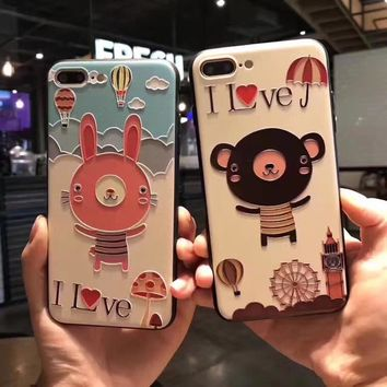 For iPhone 6s 6 7 Cover Case 3D relief Animals For Iphone 6 plus Soft Slim thin TPU Mobile Phone Shell for iPhone 6s 7 Plus