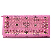 MCM Pink Stud Wallet Authentic New Leather Munich