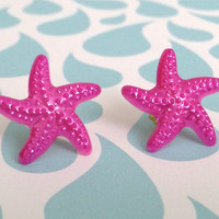 Magenta Starfish Earrings 10% of this sale will go to Sea Shepherd Conservation Society