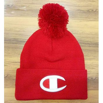 Champion : fashion men's and women's knitted cap hat red I