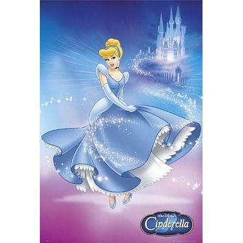 DISNEY CINDERELLA POSTER - PRINCESS - HOT NEW 24X36