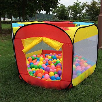 Play House Indoor and Outdoor Easy Folding Ocean Ball Pool Pit Garden Game Tent