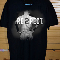 Respect Derek Jeter Re2pect  DTG Printed shirt for T shirt Mens and T shirt Woman Size S, M, L, XL and XXL