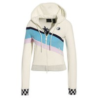 FENTY Women's Terrycloth Zip-Up Racing Jacket | Vanilla Ice | PUMA Fenty Collection | PUMA United States