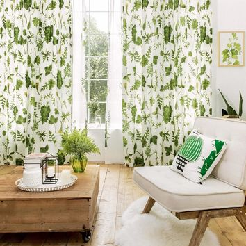 Drapes with Variety of Leaves